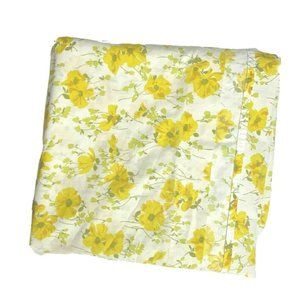 Sears Vintage 60s King Flat Sheet Floral Yellow